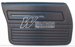 HOLDEN HZ SANDMAN FRONT DOOR TRIM SET SLATE 18V (METAL TOP EXCHANGE)