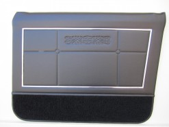 HOLDEN HT  PREMIER SEDAN DOOR TRIM SET BLACK (METAL TOP EXCHANGE)
