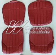 HOLDEN HT GTS MONARO SEAT COVER SET MORROCAN RED TRIM CODE 12X
