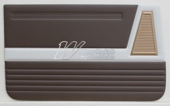 HOLDEN EJ SPECIAL DOOR TRIM SET AZTEC GOLD & JAMBOREE BROWN (TRIM CODE B16)