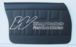 HOLDEN HQ SS SEDAN DOOR TRIM SET BLACK ROEBUCK (METAL TOP EXCHANGE)