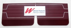 HOLDEN HT KINGSWOOD SEDAN  DOOR TRIM SET (FRONT ONLY) MAROCCAN RED TRIM CODE: 12X