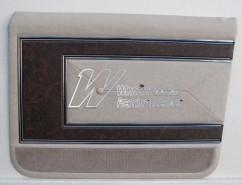 HOLDEN HG  BROUGHAM  DOOR TRIM SET SANDALWOOD (TRIM CODE 18N) (METAL TOP EXCHANGE)