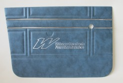 HOLDEN HT KINGSWOOD FRONT DOOR TRIM SET TWILIGHT BLUE  (TRIM CODE 14X)