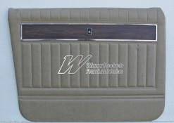 HOLDEN HK PREMIER DOOR TRIM SET BUCKSKIN BEIGE 18R (METAL TOP EXCHANGE)