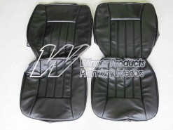 HOLDEN WB KINGSWOOD UTE FRONT SEAT COVER SET TRIM CODE 10X BLACK