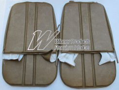 HOLDEN HG PREMIER FRONT SEAT COVER SET ANTIQUE GOLD (TRIM CODE 11X) FIXED BUCKET SEATS