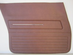 HOLDEN HZ SANDMAN FRONT DOOR TRIM SET TAN LONG GRAIN 67V ( NO TOPS)