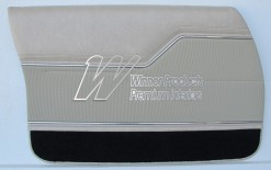 HOLDEN HJ MONARO GTS SEDAN DOOR TRIM SET CHAMOIS (TRIM CODE 60A) (METAL TOP EXCHANGE)