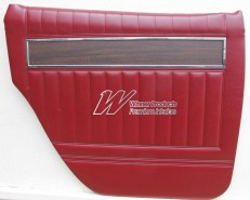HOLDEN HK PREMIER DOOR TRIM SET YULUNGA MAROON 12R (METAL TOP EXCHANGE)