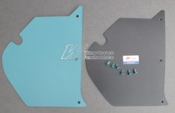 HOLDEN HT KINGSWOOD KICK PANEL SET TORQUOISE MIST (TRIM CODE 13E 13R)