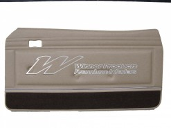 FORD XB GT DOOR TRIM SET COUPE PARCHMENT (EXCHANGE METAL TOPS) TRIM CODE P