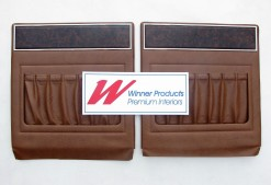 HOLDEN HQ STATESMAN BACK BOARDS SET of 2 IN BROWN CHEST NUT TRIM CODE 38