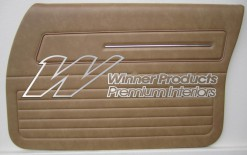HOLDEN HZ SANDMAN FRONT DOOR TRIM SET BUCKSKIN 63V (METAL TOP EXCHANGE)