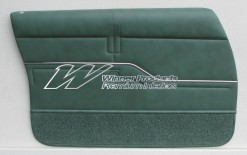 HOLDEN HZ STATESMAN DOOR TRIMS SET GREEN (SIMILAR TO JADE TRIM CODE 45) (METAL TOP EXCHANGE)