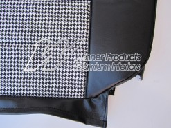HOLDEN HQ SS SEAT COVER SET 10C BLACK-Black & White Houndstooth Insert